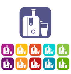 juicer icons set vector image