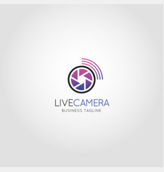 live camera - broadcast camera logo vector image