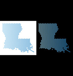 Louisiana state map hex tile mosaic vector