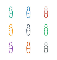 Medical ampoule icon white background vector