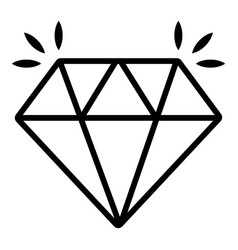 mine diamond icon outline style vector image