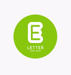 modern linear logo and sign letter e vector image