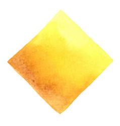 morning sun shine yellow square watercolor banner vector image