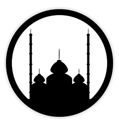 Mosque button on white vector image