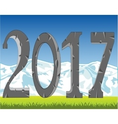 New approaching 2017 vector