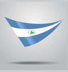 Nicaraguan flag background vector