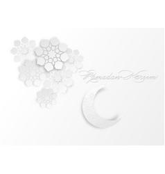 paper graphic islamic decoration ramadan kareem vector image