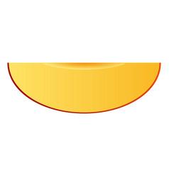piece of mango icon realistic style vector image