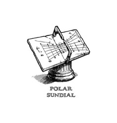Polar sundial vector