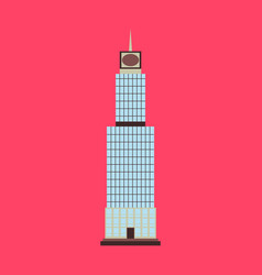 Posterempire state building high-rise building vector