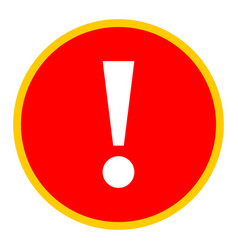 Red circle exclamation mark icon warning sign vector