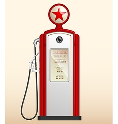 Red vintage gas station vector
