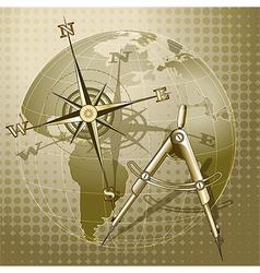 Retro navigation vector image