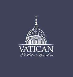 saint peters basilica at vatican vector image