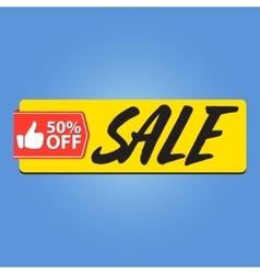 Sale 50 percent off vector