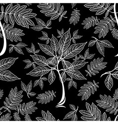 Seamless tree pattern 012 vector