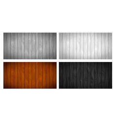 set different realistic wooden boards vector image