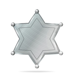 sheriff badge star realistic blank of vector image