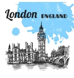 sketch London vector image