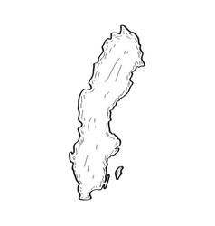 sketch of a map of sweden vector image