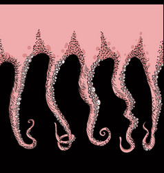Sketched tentacles hand drawn tentacles vector