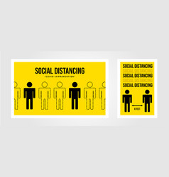 social distancing poster covid19 prevention design vector image