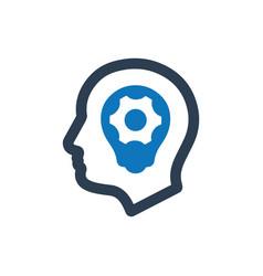 Strategic thinking icon vector