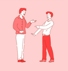 Talking people coworker friend meeting break time vector
