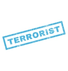 Terrorist rubber stamp vector