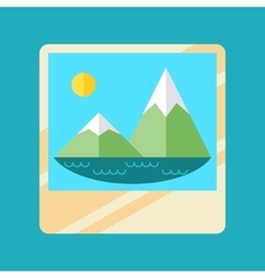 Trandy album icon with embedded picture inside vector