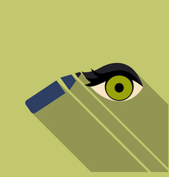 Type of eye makeup cat eyeliner tutorial stylish vector