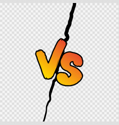 versus sign gradient style with shadow isolated vector image