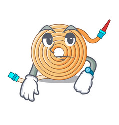 Waiting the water hose mascot vector