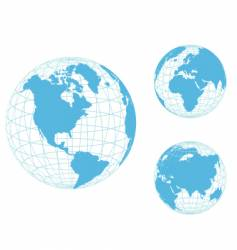 world globes vector image