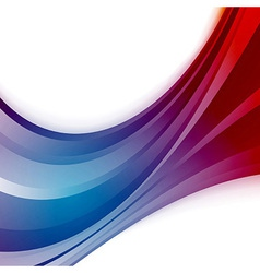 Abstract wave blue swoosh background vector image vector image