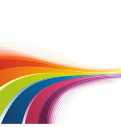 Bright rainbow swoosh lines background vector image vector image