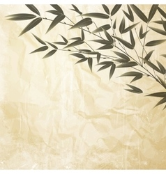 Chinese bamboo design vector image