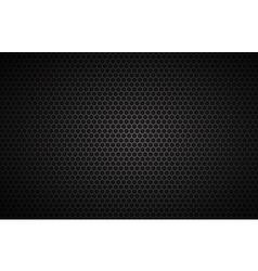 Geometric polygons background black metallic vector image
