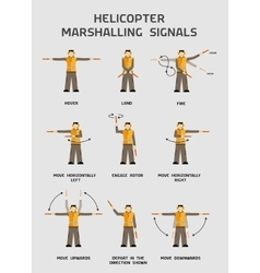 Helicopter marshalling signals vector image vector image