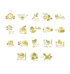 Labels for Organic Healthy Eco Food Set vector image