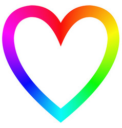 Rainbow gradient happy heart icon template vector image vector image
