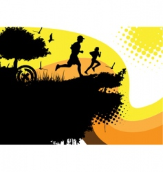 running people vector image vector image