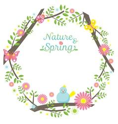 Spring Season Icons Wreath vector image