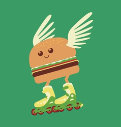 burger hot delivery vector image vector image