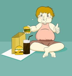 fat boy vector image