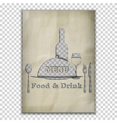 food and drink menu stencil from old paper vector image