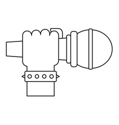 hand microphone icon outline style vector image vector image