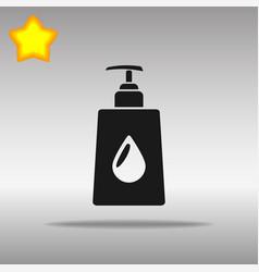 liquid soap black icon button logo symbol vector image