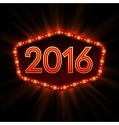 New Year Retro llight frame vector image vector image