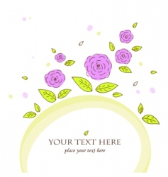beautiful card with roses vector image vector image